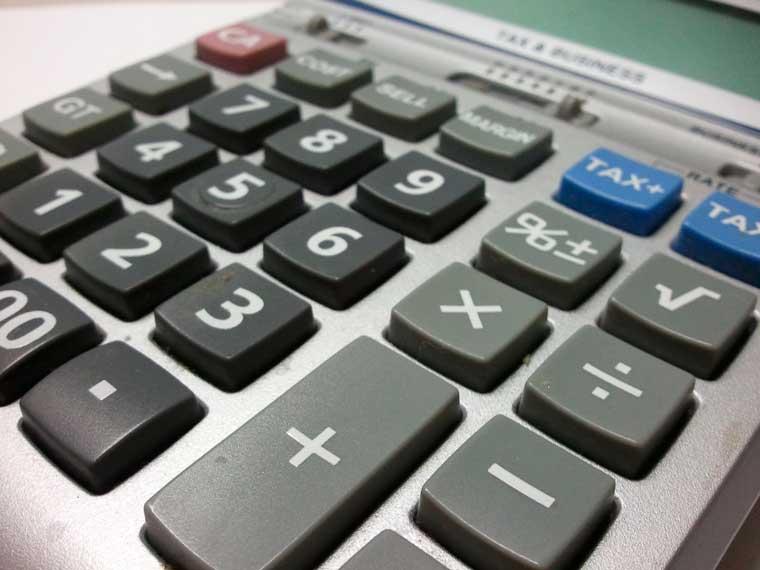 calculadora cálculos planilha