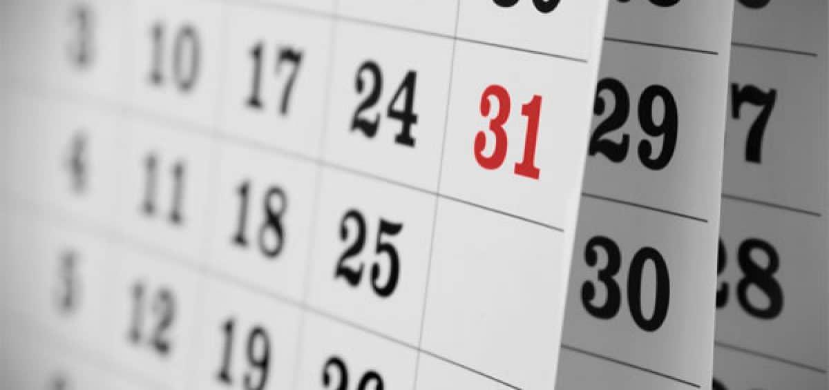 calendario datas conversão de tempo especial